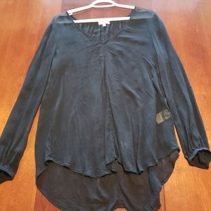 Wilfred Flowy Silk Tunic Blouse size S